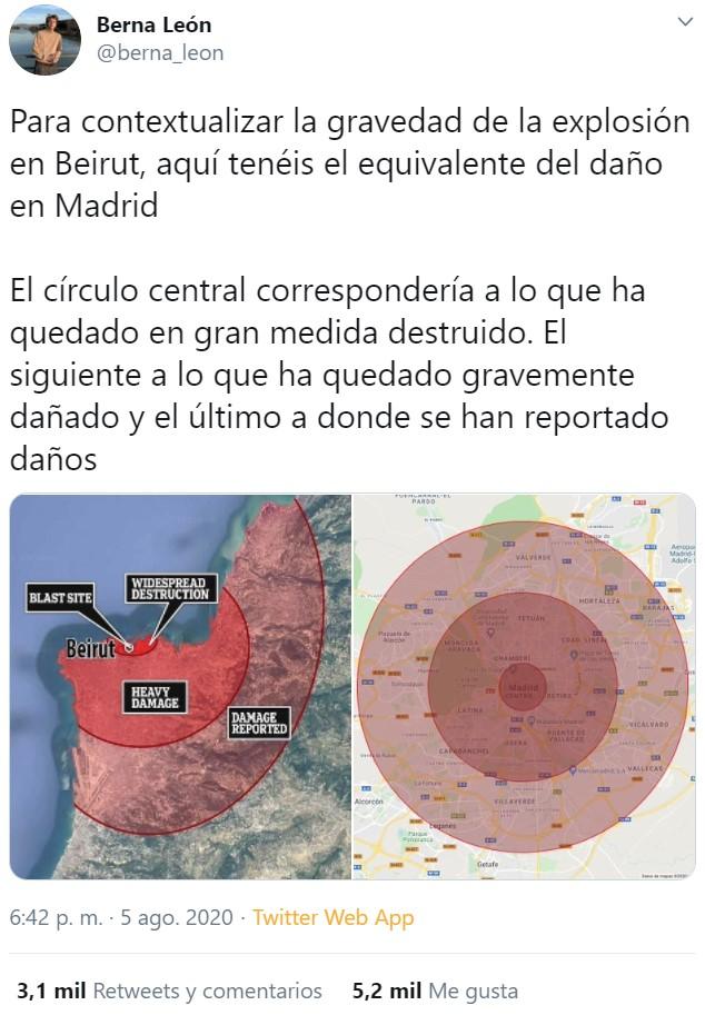 Para entender las dimensiones de la explosión