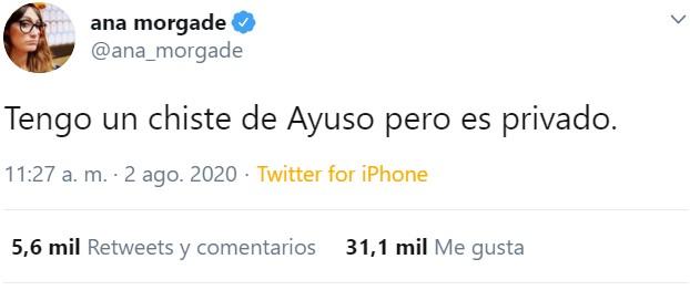 Ana Morgade es Trending Topic por hacer un chiste... PARA TODOS