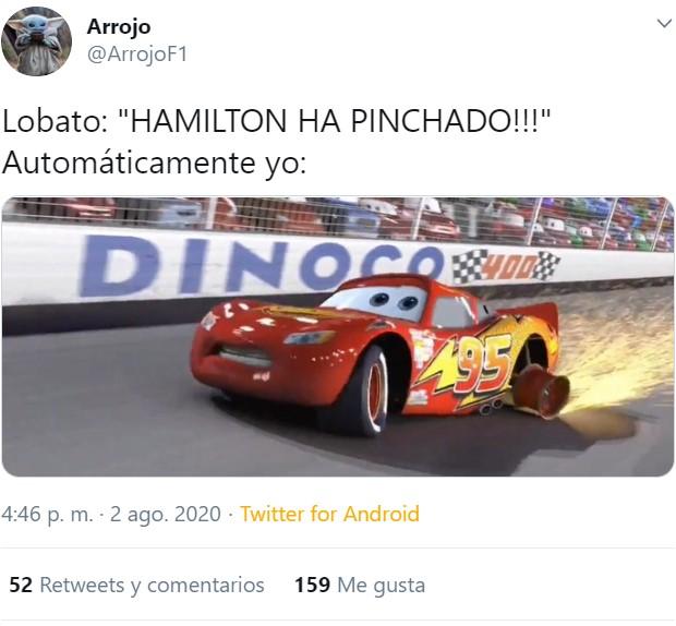 Hamilton gana en el GP de Gran Bretaña con un neumático pinchado