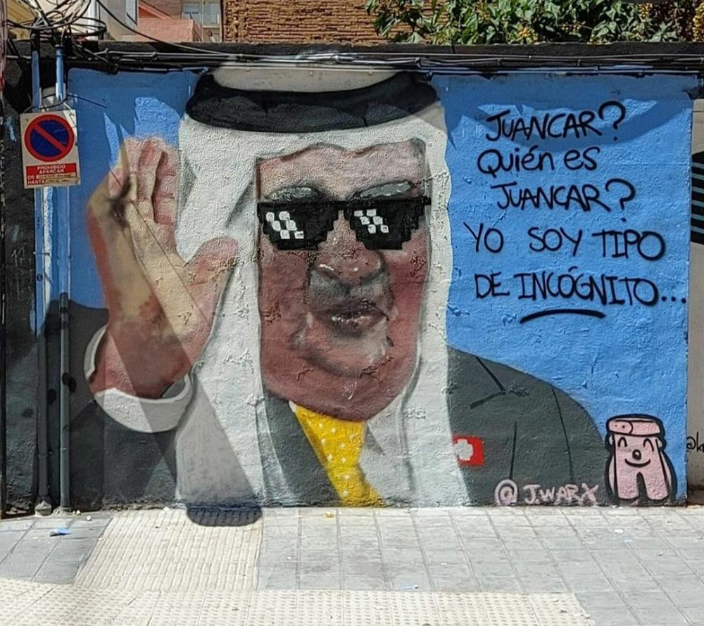 El graffiti del Rey Emérito vuelve a mutar