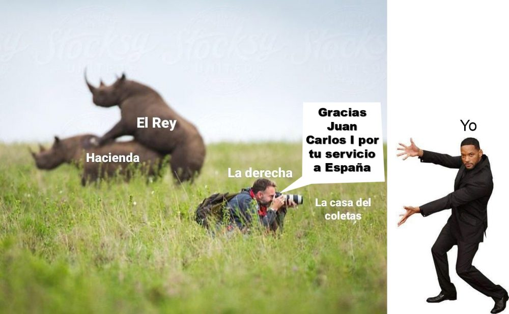 España pierde al Rey, que huye del orden y la ley.