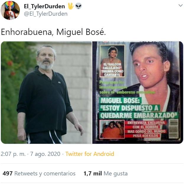 Lo de Miguel Bosé no es cosa de la edad...