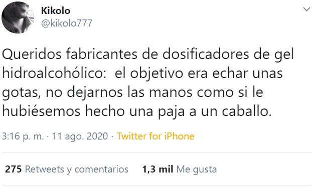 Stop chorrasos