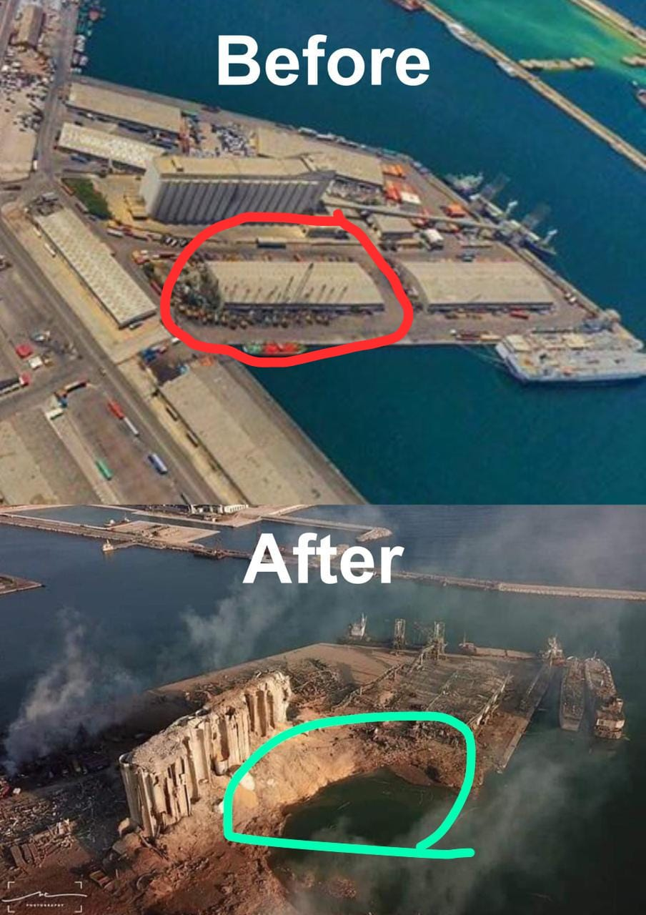 Pues ya han encontrado la causa de la explosión: había un almacén enorme de fuegos artificiales al lado de un almacén enorme de material turbo-explosivo...
