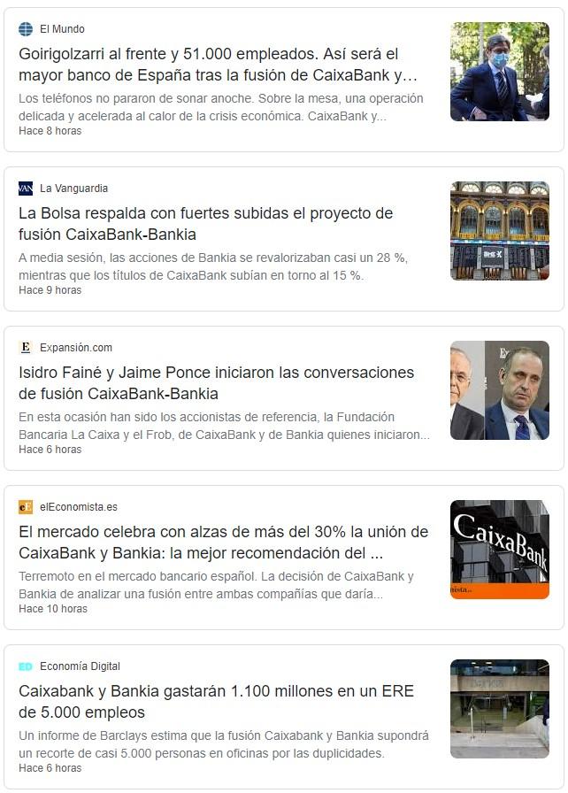 A pesar de todo, y con Podemos en el gobierno, BANKIA va a ser privatizada al fusionarse con CaixaBank