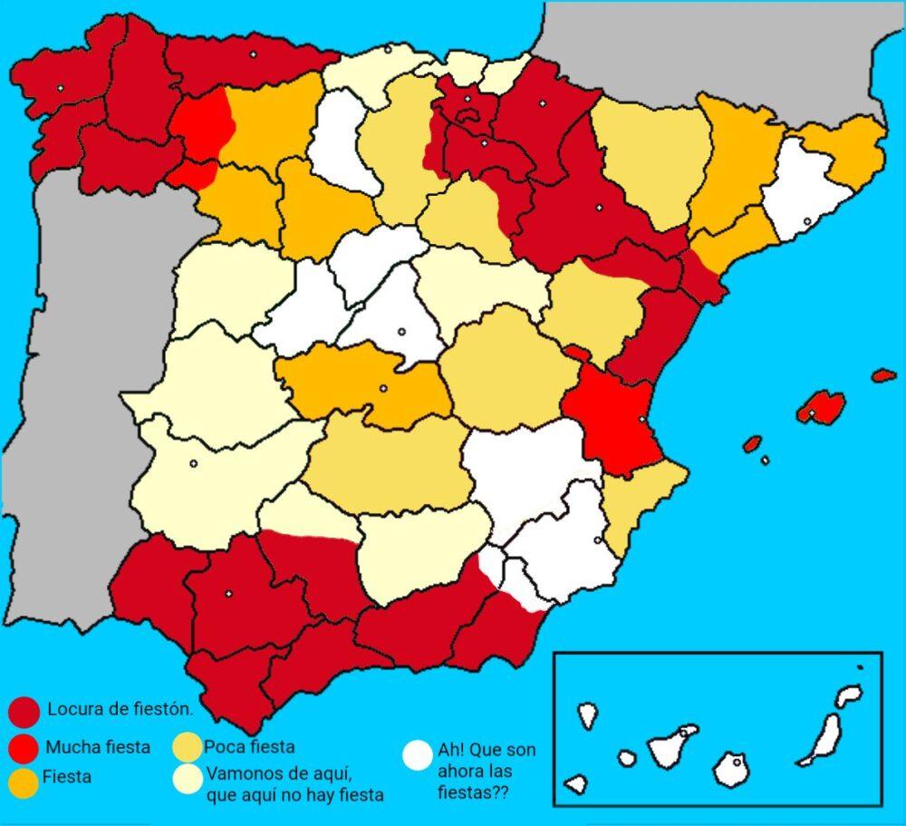 Mapa conceptual de las fiestas patronales.