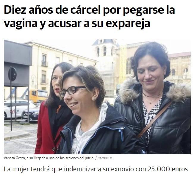 La mujer que se inventó un secuestro (con pegamento en el vagino) por el cual su ex-pareja estuvo 1 año en la cárcel, condenada a 10 años