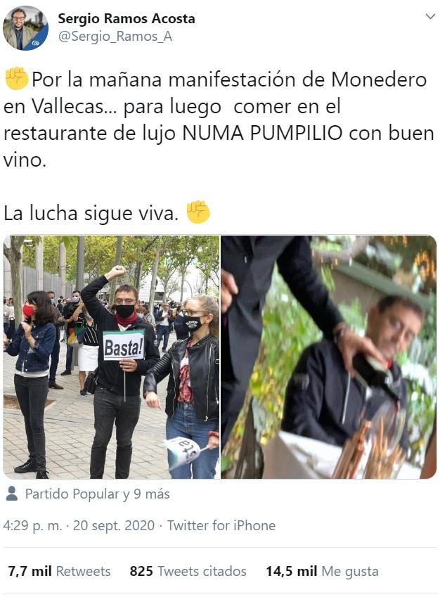 Madrileños protestan contra el confinamiento selectivo y las restricciones por el virus