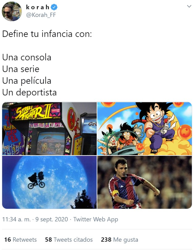 Define tu infancia con una consola, una serie, una película, y un deportista.