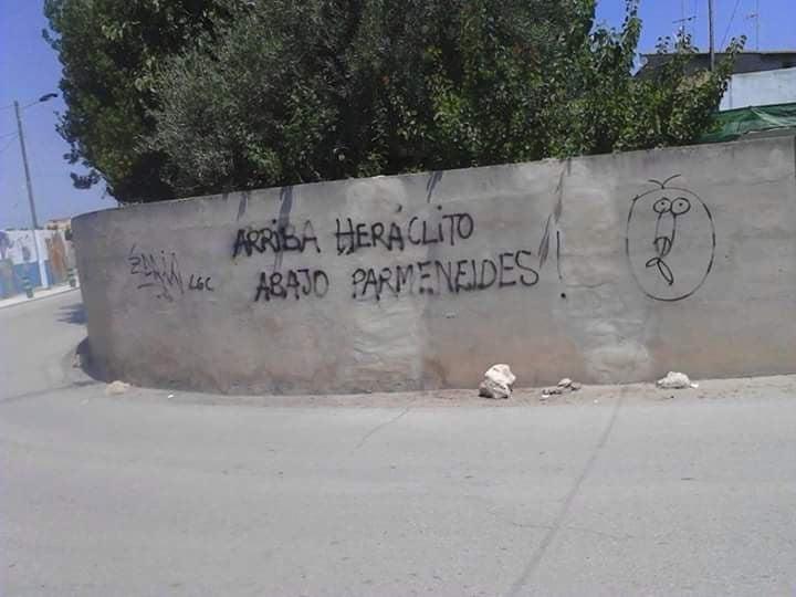 Cuando a las 2 tienes graffiti, y a las 3 examen de filosofía