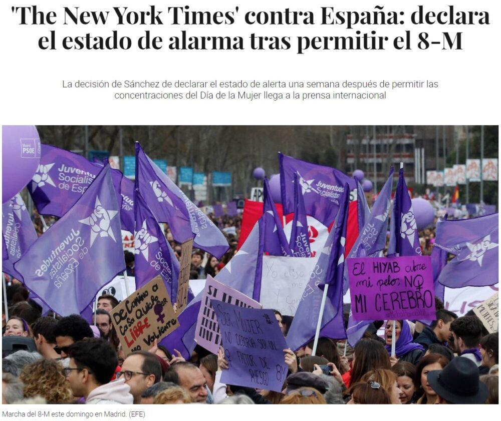 Pues nada, el New York Times también es fasista...