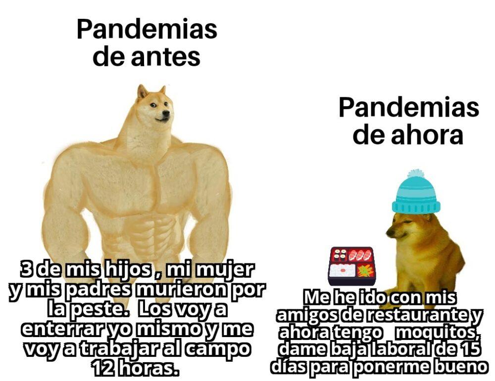 Pandemias de antes vs pandemias de ahora