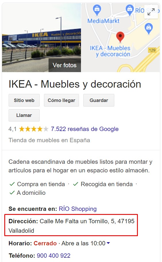El IKEA de Valladolid está en la calle... ¿Me falta un tornillo?