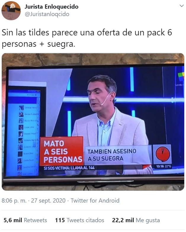 Persona != Suegra