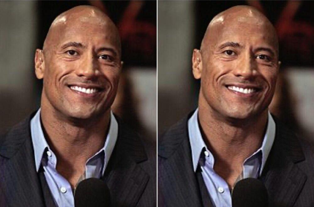 The Rock antes y después de mirar a Medusa a la cara