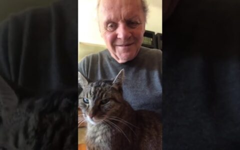 Buenos días by Anthony Hopkins y su gato