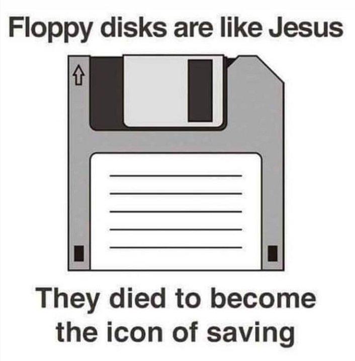 Los disquetes son como Jesús