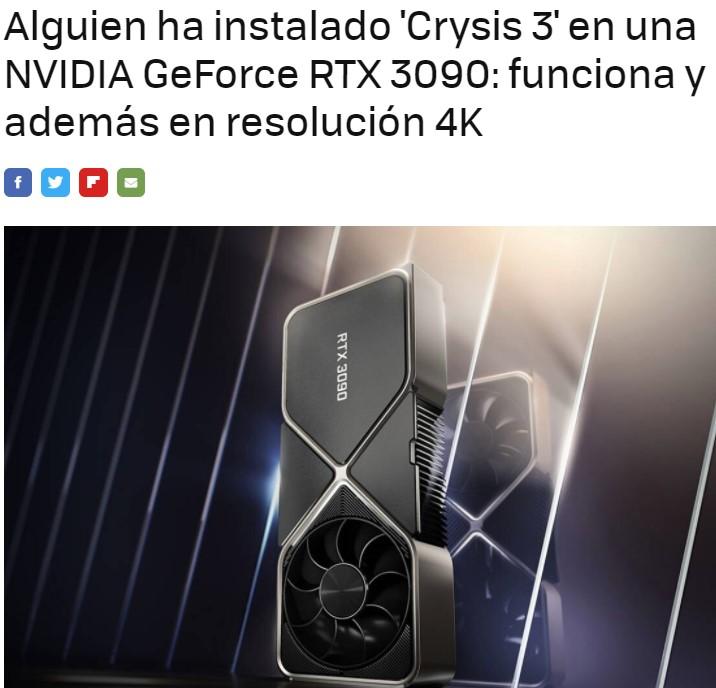 Instalan Crysis 3 directamente en una tarjeta gráfica: ¿Y si el ordenador está siendo un intermediario más que un colaborador?