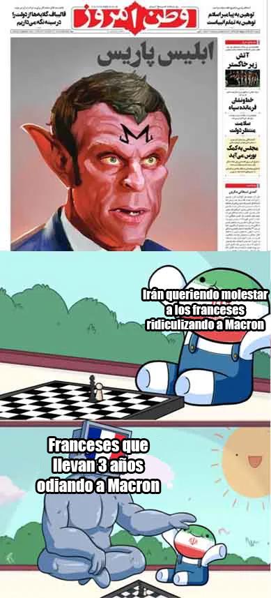 Irán: *Publican un dibujo de Macron esperando ofender a los franceses*