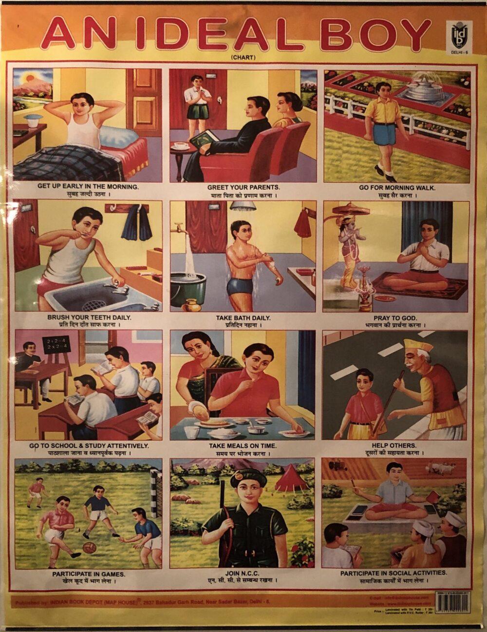 """Antiguo folleto indio en el que se detallaba cómo era """"un chico ideal"""""""