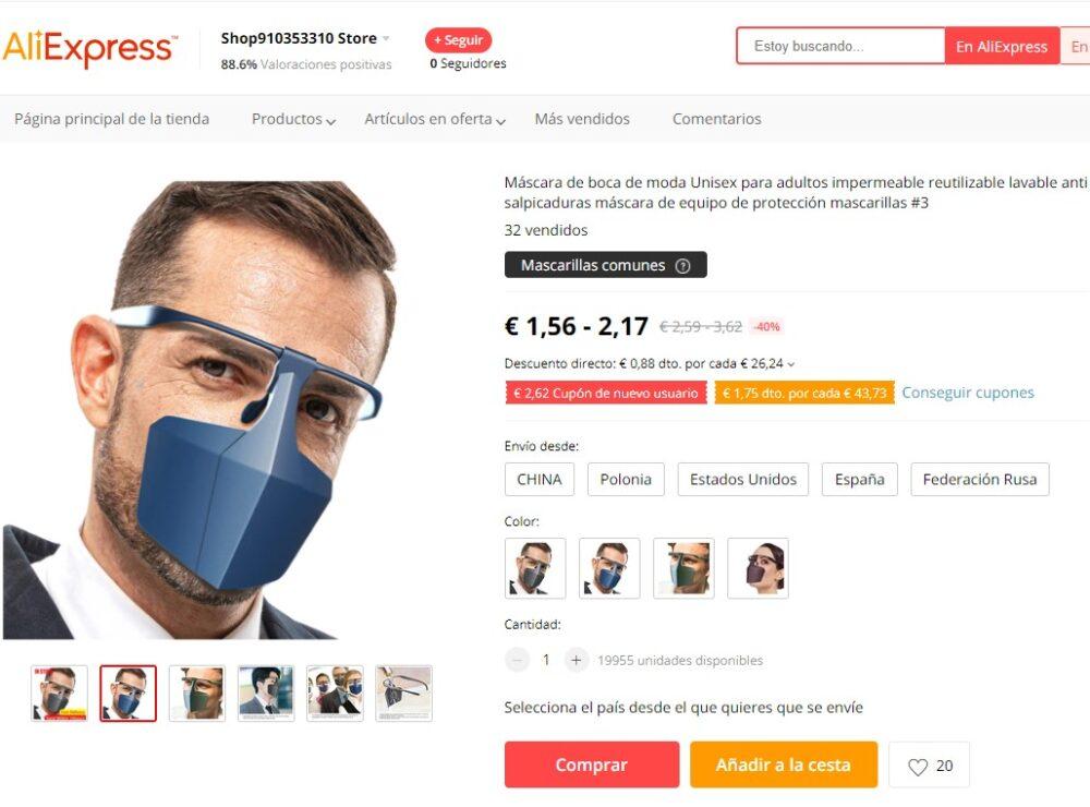 La mascarilla con soporte de gafas que estabas esperando