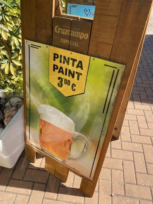 Prefiero beber pintura que Cruzcampo...