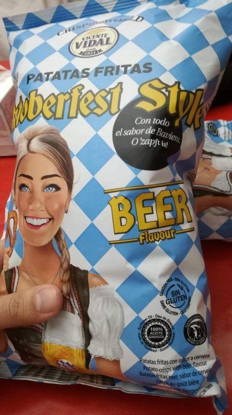 ¿Patatas fritas con sabor a cerveza?