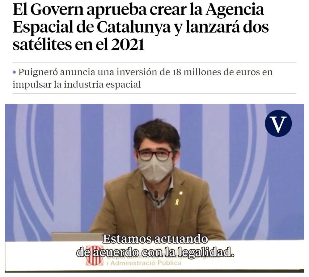 """La Generalitat crea la """"NASA catalana"""""""