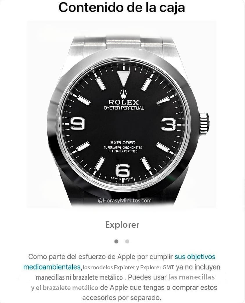Si Apple vendiese relojes
