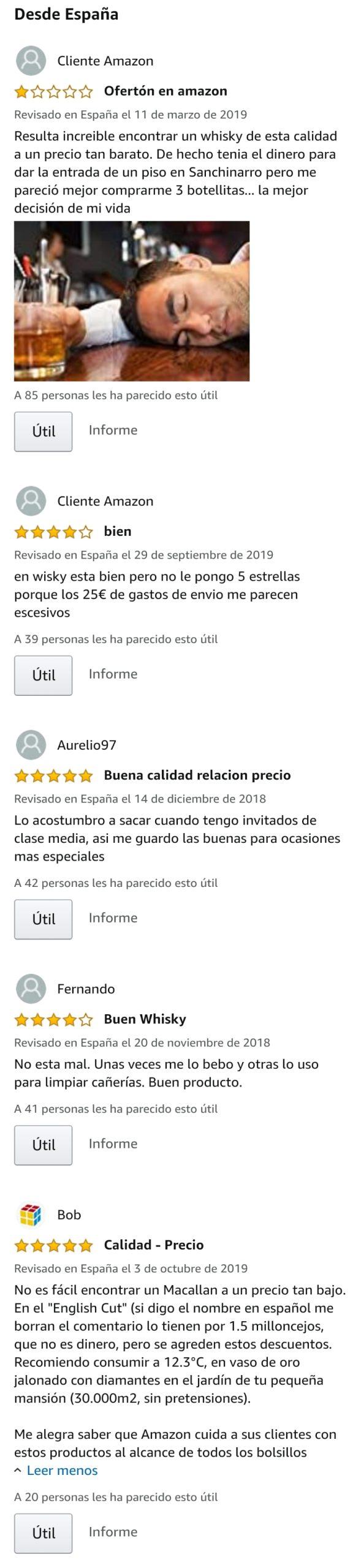 Amazon vende una botella de Macallan por 46.351,31 euros