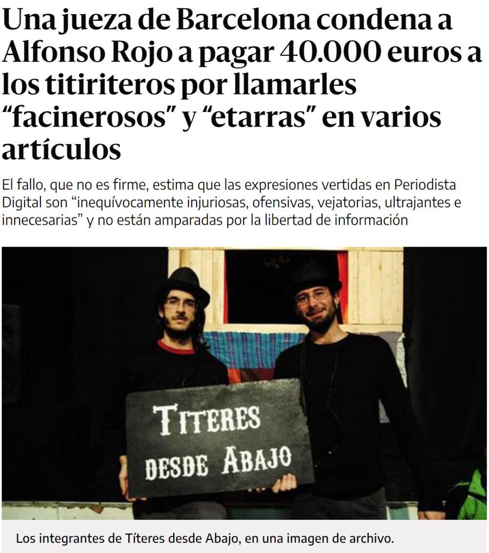 Echenique y el director de comunicación de Pablo Iglesias condenados a pagar 80.000 lagartos de indemnización
