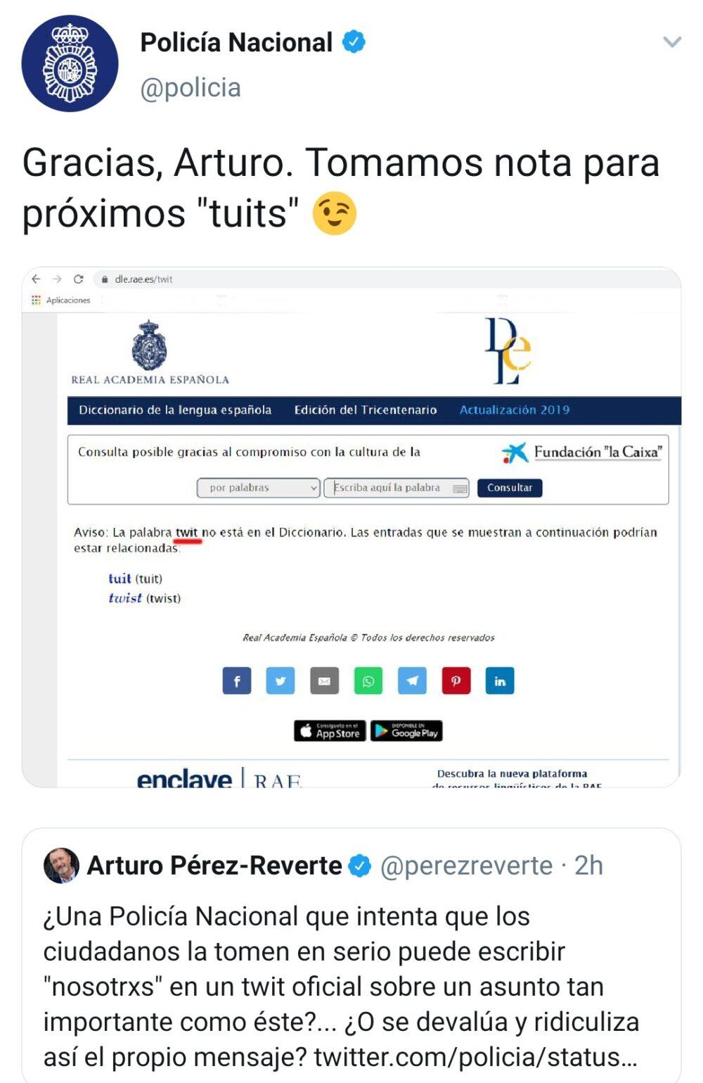 Arturo Pérez-Reverte vs la Policía Nacional: FIGHT!