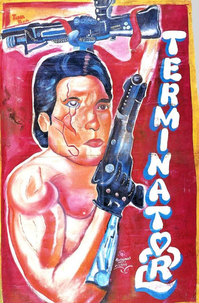 Así eran los carteles con los que se promocionaban las películas en Ghana