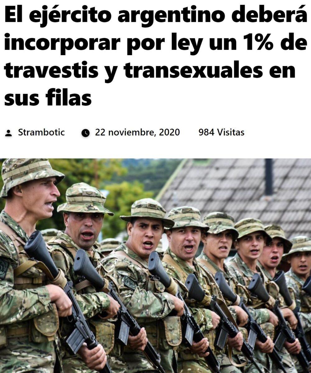 El ejército argentino tendrá un 1% de agentes dobles
