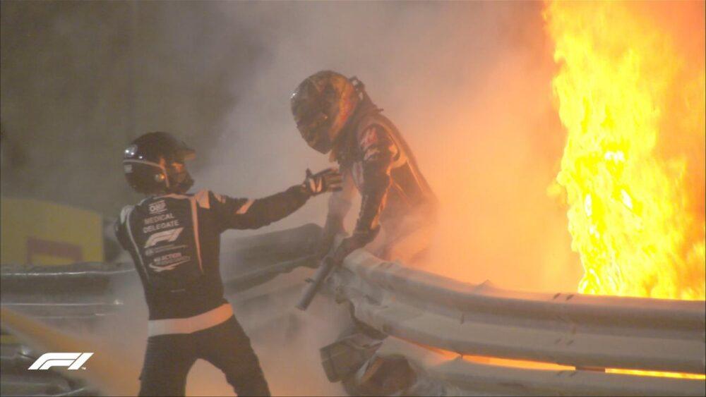 Más imágenes del espectacular accidente de Romain Grosjean