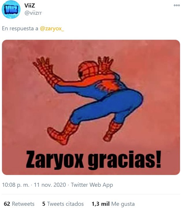 ¡Grasias Zaryox!