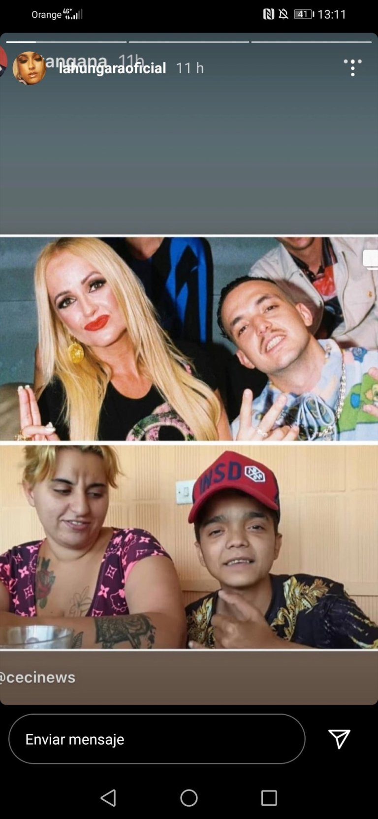 La Húngara troliando a CTangana en Instagram