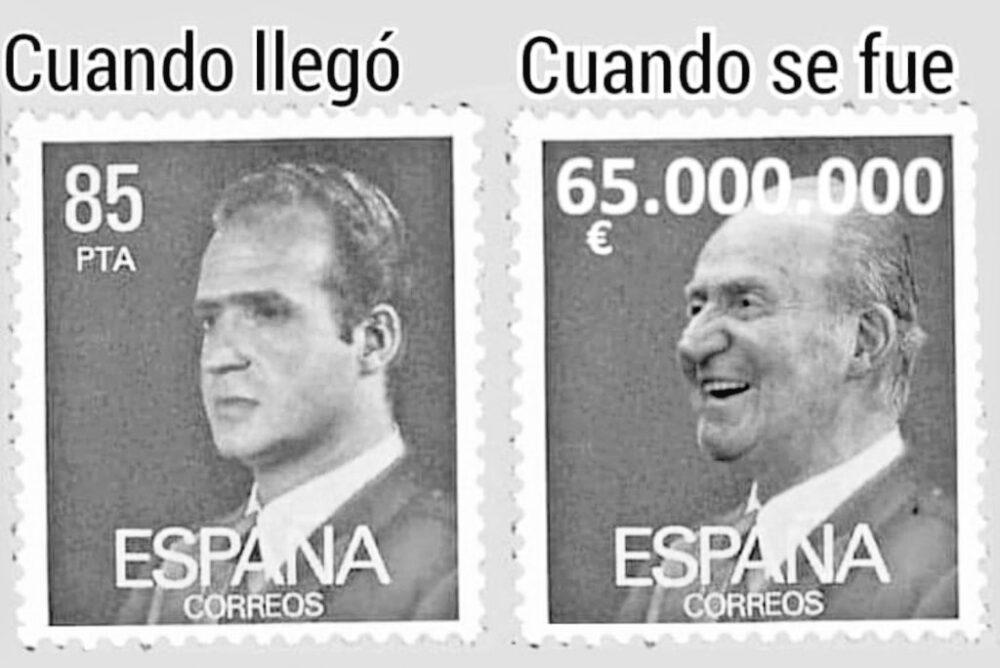 El Rey Juan Carlos antes vs después