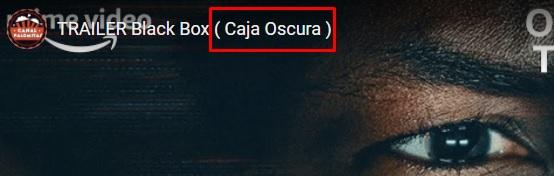 "Ojo, caja ""oscura"" xdd"