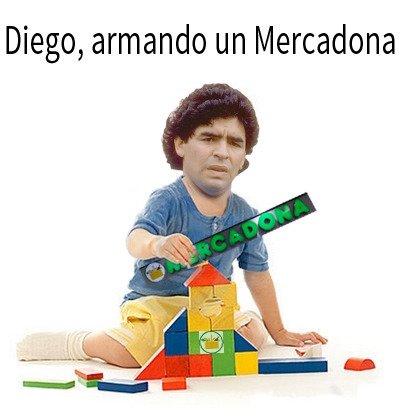 Maradona ya está en el cielo