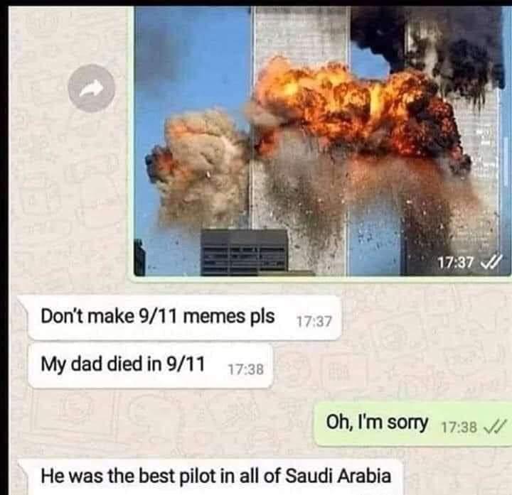 """""""No hagáis memes del 11s por favor"""""""