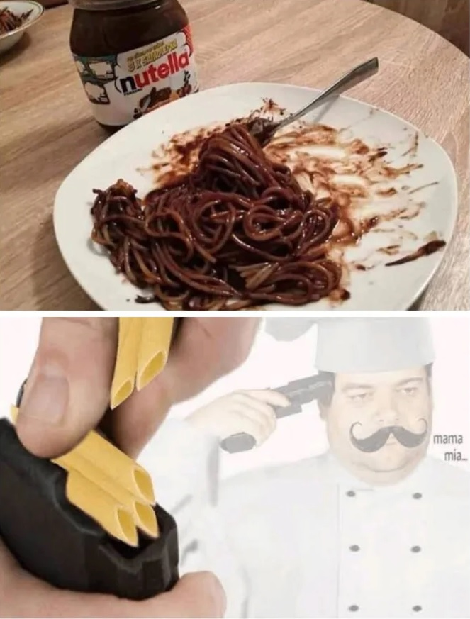 Espaguetis con nocilla