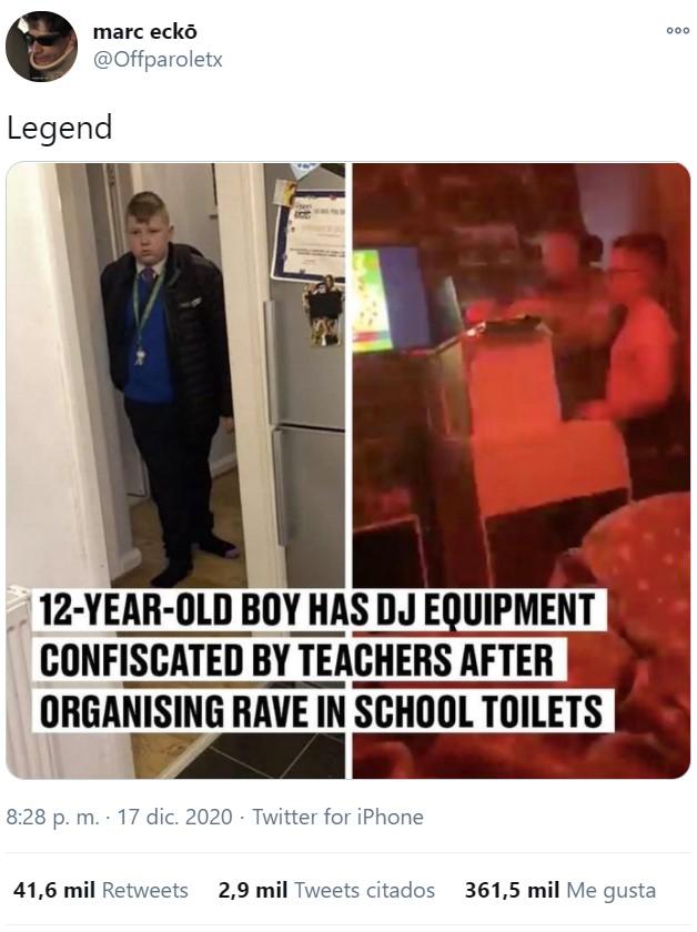 Los profesores le confiscan la mesa de mezclas a un niño de 12 años tras organizar una rave en los cuartos de baño del colegio