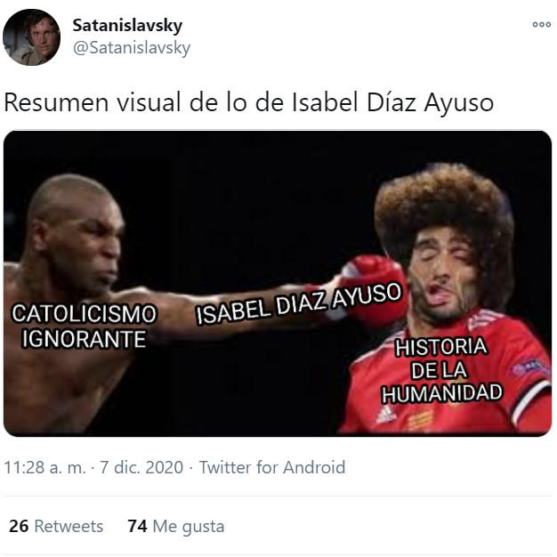 Díaz Ayuso ha hablado y... Here we go again...