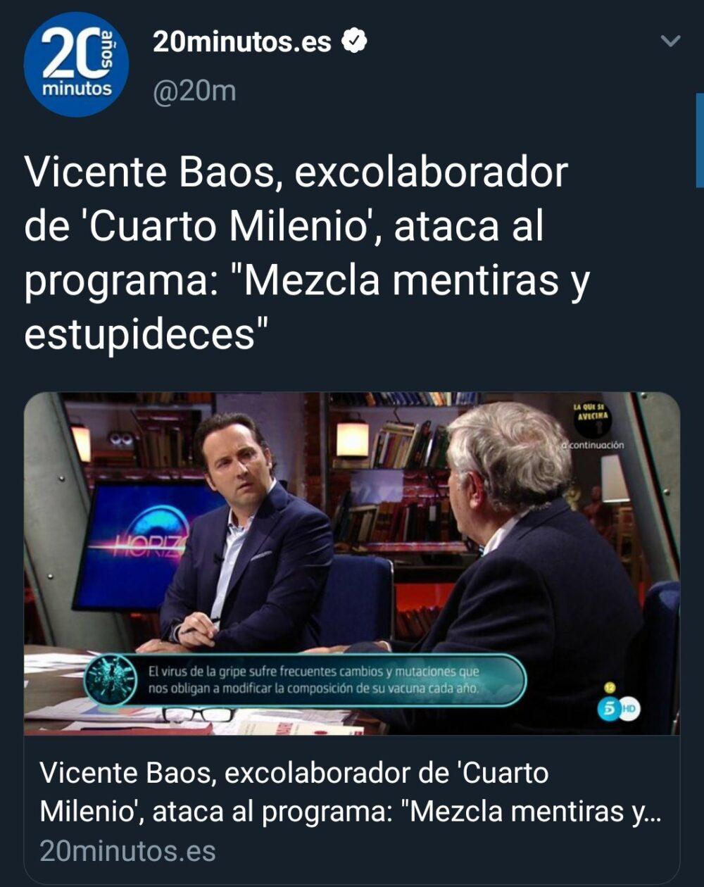 Vicente Baos no se anda va al grano