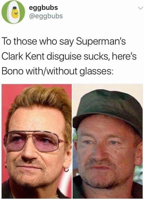 Para los que se reían de que nadie reconociese a Clark Kent cuando se quitaba las gafas...
