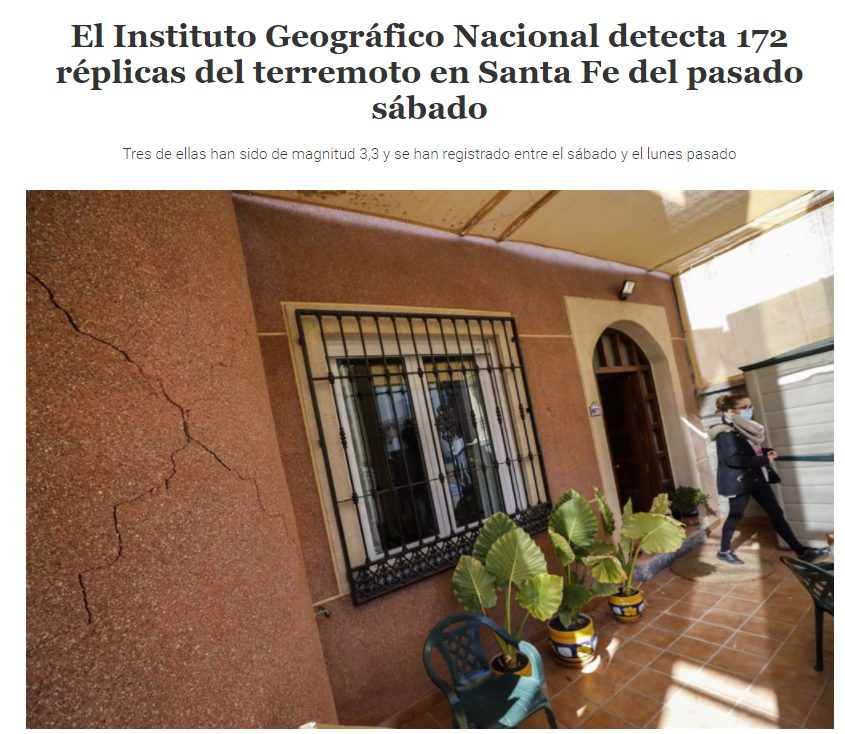 Granada sufre 172 terremotos en dos días, pero como no es Madrid...