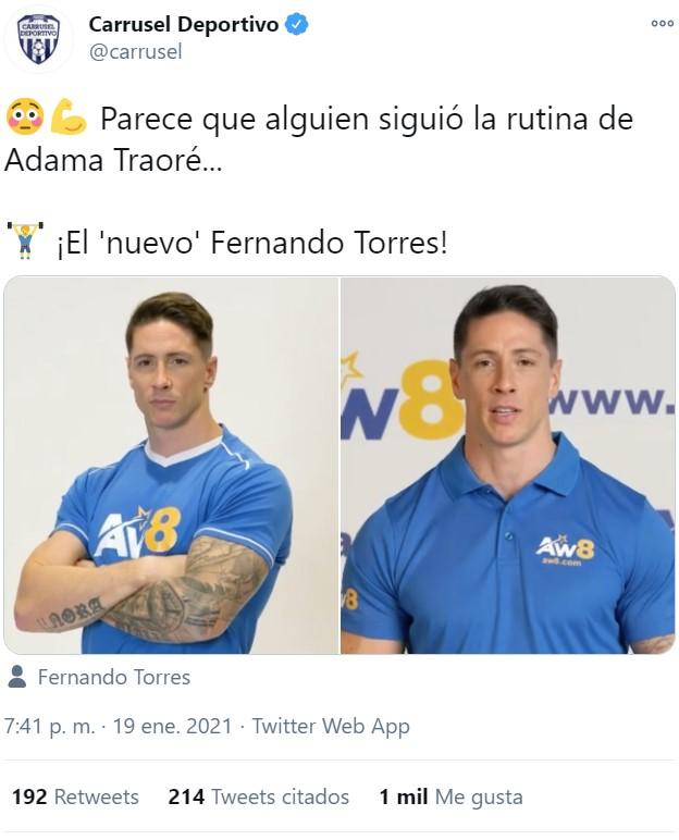 Sergio Torres ha subido de nivel su personaje