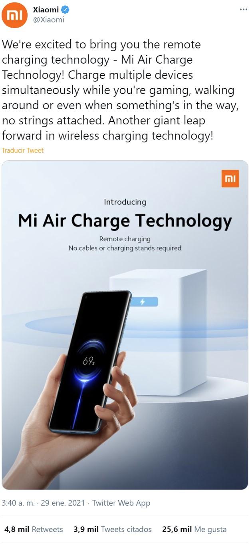 Mi Air Charge: Xiaomi estrena la carga inalámbrica remota