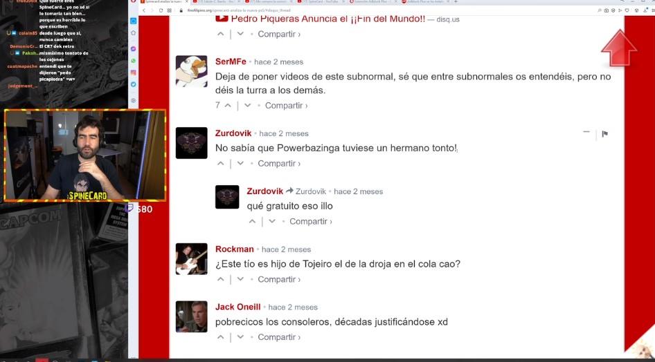 SpineCard lee comentarios de FinoFilipino (Directo en Twitch)